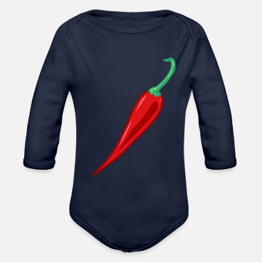 Chilli Pepper Chilli peppers chili pepper - Organic Long-Sleeved Baby Bodysuit