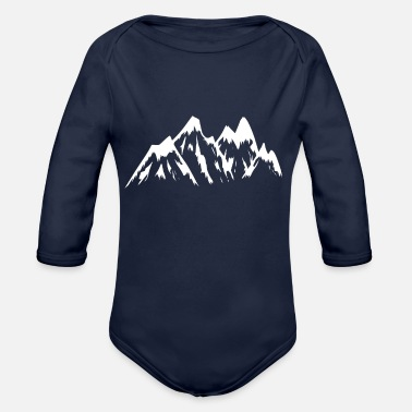 Mountains Mountain mountains mountains - Organic Long-Sleeved Baby Bodysuit