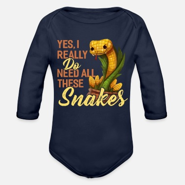 Snake Yes, I really need all these snakes. - Organic Long-Sleeved Baby Bodysuit