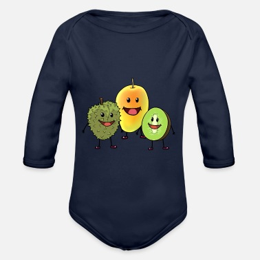 Fruit Fruit fruit fruits - Organic Long-Sleeved Baby Bodysuit