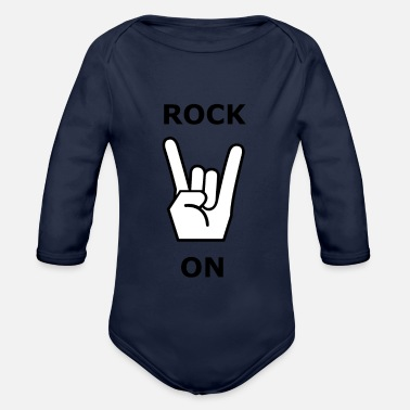 Rock Skirt Rock On - Metal & Rock - Body ecologico per neonato a manica lunga