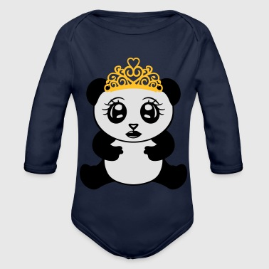 female girl princess crown queen beautiful - Organic Longsleeve Baby Bodysuit