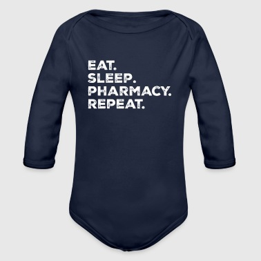 Eat Sleep Pharmacy - Organic Longsleeve Baby Bodysuit