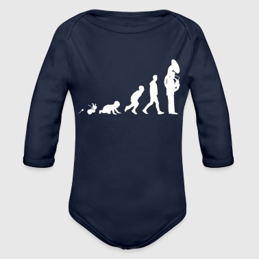 Tenor Horn Fun Shirt Gifts Grow Evolution - Body ecologico per neonato a manica lunga