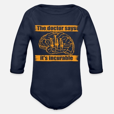 doctor doc says incurable diagnosis trumpet trompe - Organic Long-Sleeved Baby Bodysuit
