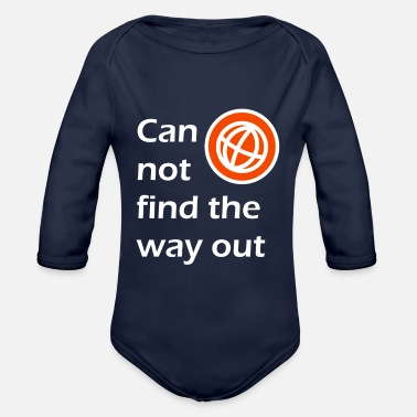 Out way out / The way out - Organic Longsleeve Baby Bodysuit