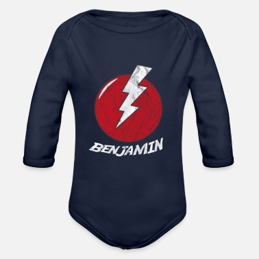Flash divertente supereroe supereroe Benjamin - Body a manica lunga per neonati
