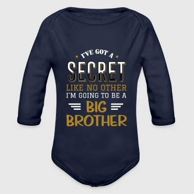 I'm going to be a big brother birth T-shirt - Organic Longsleeve Baby Bodysuit