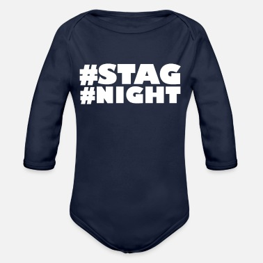 Stag Do Cool Stag Do - Organic Long-Sleeved Baby Bodysuit