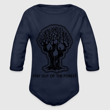 Stay out of the Forest - Totenkopfbaum Baum Wald - Baby Bio-Langarm-Body