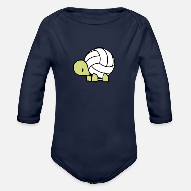 Volley Volleyball Turtle Volley Ball Reptile Gift - Body ecologico per neonato a manica lunga
