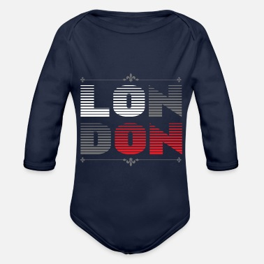 London London - Økologisk langermet baby-body