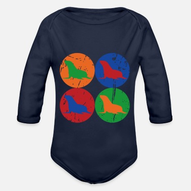 Sea Creatures Sea Lion - Sea Creature - Mammal - Organic Long-Sleeved Baby Bodysuit