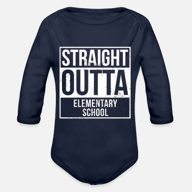 Elementary School Straight Outta Elementary School - Organic Long-Sleeved Baby Bodysuit