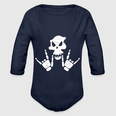 Rock n Roll Skeleton - Baby Bio-Langarm-Body