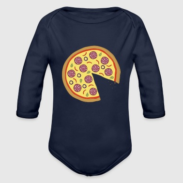 The Missing Pizza Salami - Matching Couple Love - Baby bio-rompertje met lange mouwen