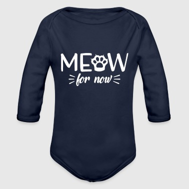 Meow Pussycat chats design sayings texte - Body bébé bio manches longues