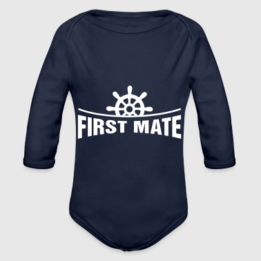 Erster Kamerad (Tochter) - Funny Family Matching Gift - Baby Bio-Langarm-Body