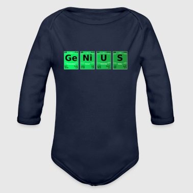 Science Periodic Table Genius Periodic Table - Organic Longsleeve Baby Bodysuit