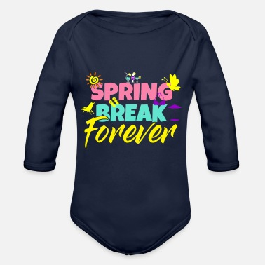Spring Springbreak - Spring Festival - Beach Party - Organic Long-Sleeved Baby Bodysuit