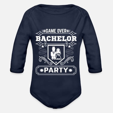 Party Game Over Bachelor Party - Organic Long-Sleeved Baby Bodysuit