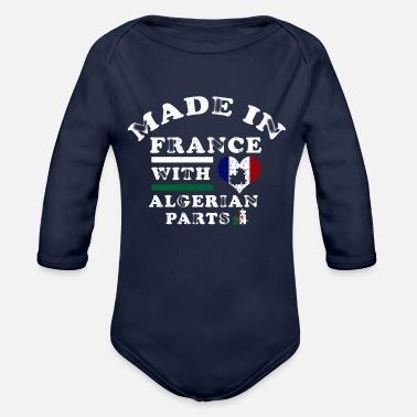 aabaebb5e0fce France Algérie Pays d  39 origine - Cadeau - Body Bébé bio manches longues
