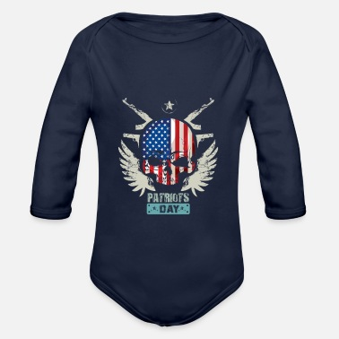 Patriot Patriots USA Patriots Day - Organic Long-Sleeved Baby Bodysuit