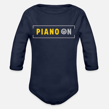 Piano Piano Piano on - Organic Long-Sleeved Baby Bodysuit