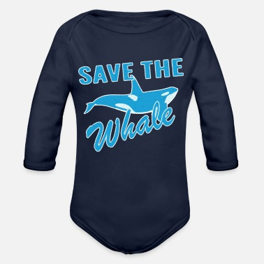 Save the whale - Organic Long-Sleeved Baby Bodysuit
