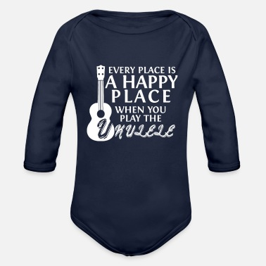 Guitar Player Ukulele musical instrument sayings saying gift - Organic Long-Sleeved Baby Bodysuit
