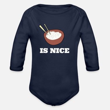 Asian Asia Asian Rice Asian Asian Japan China - Organic Long-Sleeved Baby Bodysuit
