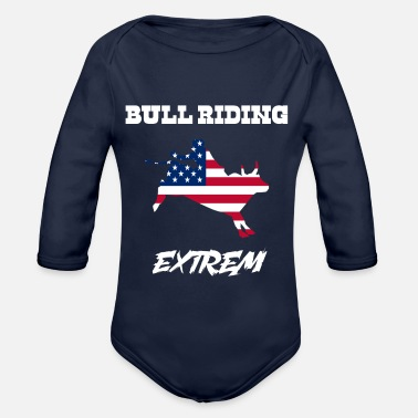 USA Texas Bull Riding Extreme - Organic Long-Sleeved Baby Bodysuit
