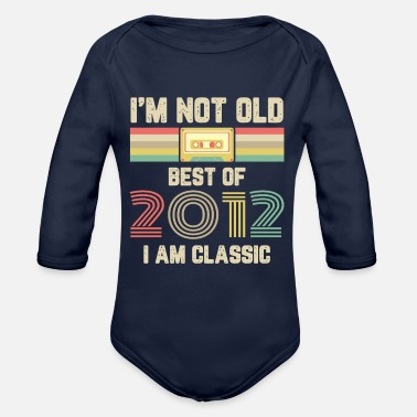 2000 Vintage 2012 12 Birthday Retro Vintage Gift - Organic Long-Sleeved Baby Bodysuit