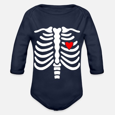 Skeletons Skeleton-Skeleton - Organic Long-Sleeved Baby Bodysuit