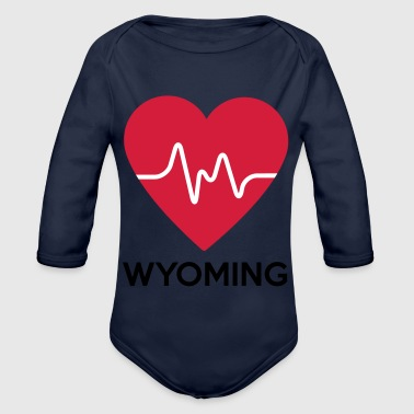 Wyoming coeur Wyoming - Body bébé bio manches longues