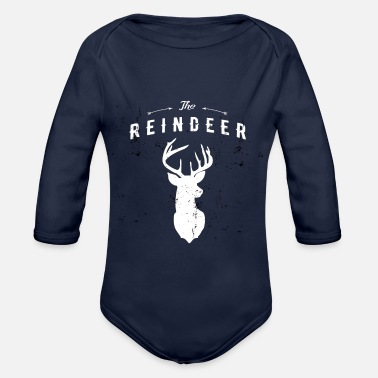 Reindeer Reindeer - The Reindeer - Organic Long-Sleeved Baby Bodysuit