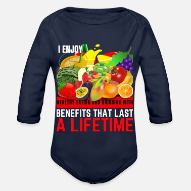 Healthy Eating HEALTHY EATING - Organic Long-Sleeved Baby Bodysuit