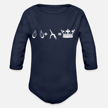hobby plus i king yoga 3 - Organic Long-Sleeved Baby Bodysuit