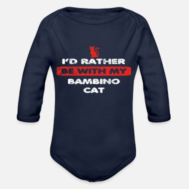 Bambino Cat Cat rather at my BAMBINO CAT - Organic Long-Sleeved Baby Bodysuit