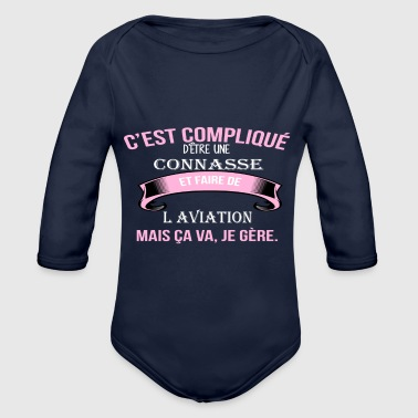 Aviation l aviation - Body bébé bio manches longues