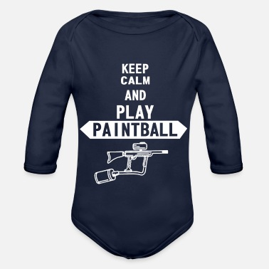 Paintball Paintball - Baby bio-rompertje met lange mouwen