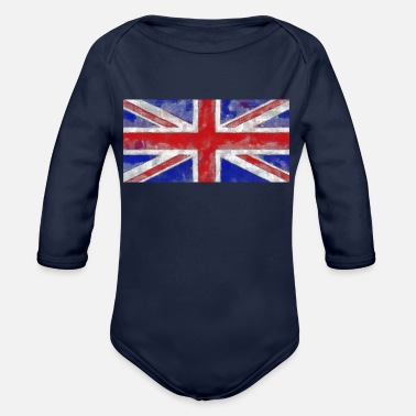 Union Jack Englische Flagge Great Britain - Baby Bio Langarmbody
