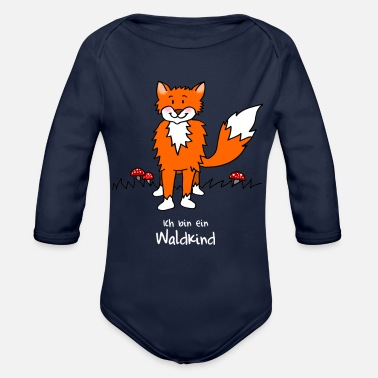 Children Naughty fox for forest kindergarten - Organic Long-Sleeved Baby Bodysuit