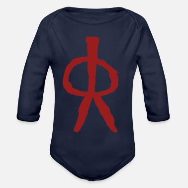 8000 Rock Painting - Organic Long-Sleeved Baby Bodysuit