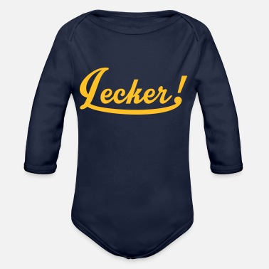 Tasty Underwear sexy: Lecker Mädsche - Organic Long-Sleeved Baby Bodysuit