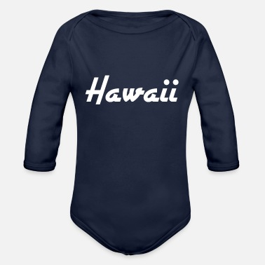 State Hawaii - Honolulu - US State - United States - United States - Organic Long-Sleeved Baby Bodysuit