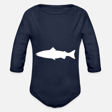Trout Pond Trout - Organic Long-Sleeved Baby Bodysuit