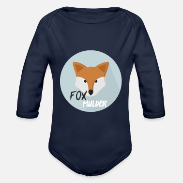 Officialbrands Fox Mulder T-shirt - Baby bio-rompertje met lange mouwen
