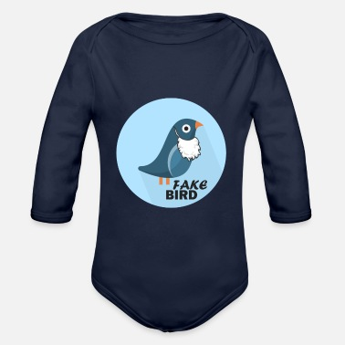Officialbrands T-Shirt Bird Fake News - Body ecologico per neonato a manica lunga