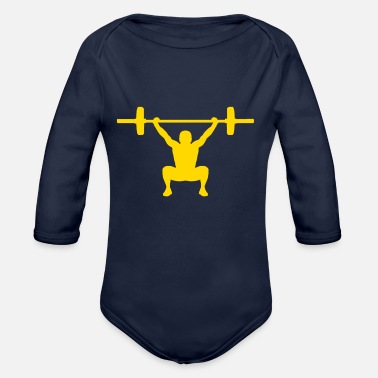 Snatch Snatch yellow - Organic Long-Sleeved Baby Bodysuit